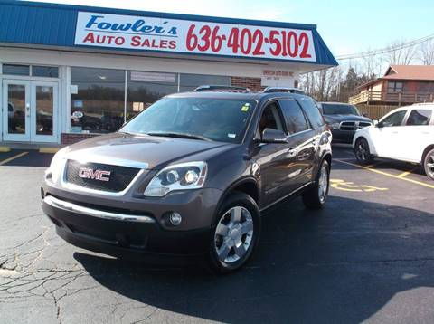 2008 GMC Acadia for sale at Fowler's Auto Sales in Pacific MO