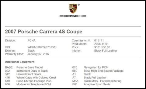 2007 Porsche 911 Carrera 4S for sale at RAC Performance in Carrollton TX
