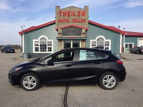 2018 Chevrolet Cruze for sale at THEILEN AUTO SALES in Clear Lake IA