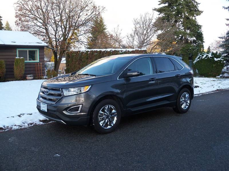 2016 FORD EDGE SEL AWD 4DR CROSSOVER charcoal 2016 ford edge sel awd 35l v6 at dual power hea