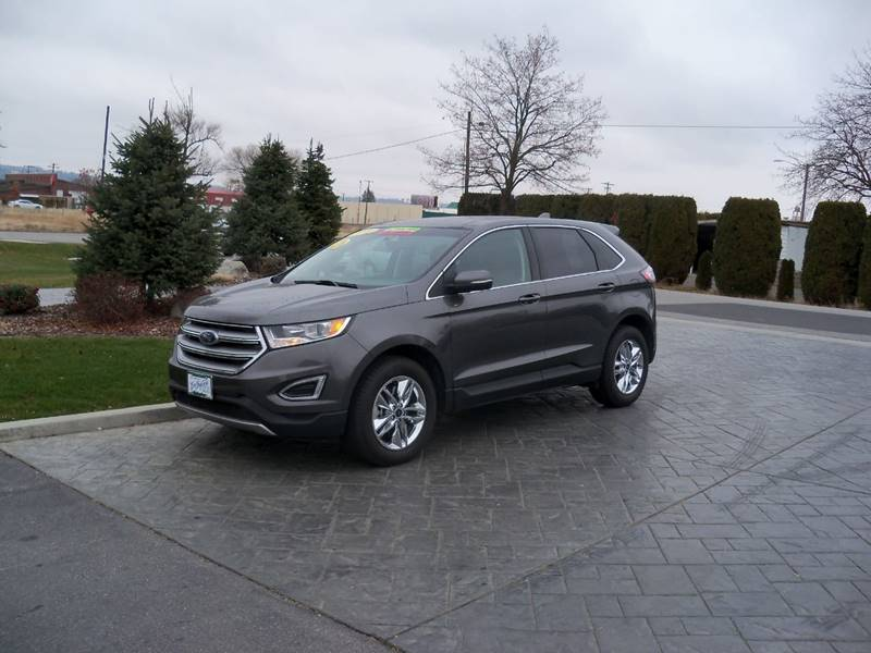 2016 FORD EDGE SEL AWD 4DR CROSSOVER gray low millage 2016 ford edge sel awd
