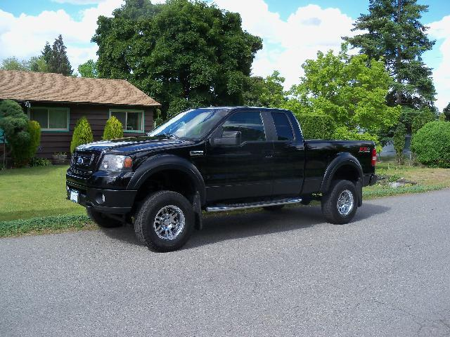 2008 FORD F-150 FX4 4X4 4DR SUPERCAB STYLESIDE 6 black 2008 ford f-150 fx4 su