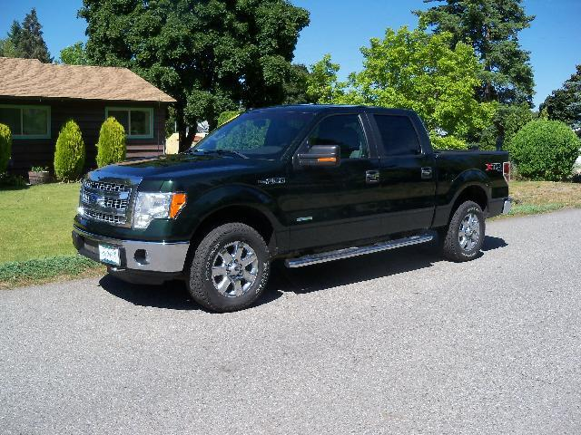 2013 FORD F-150 XLT 4X4 4DR SUPERCREW STYLESIDE green 2013 ford f-150 xltxtr