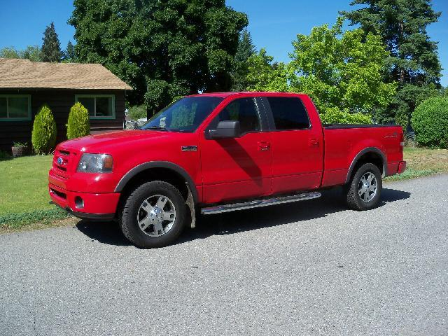 2008 FORD F-150 FX4 4X4 4DR SUPERCREW STYLESIDE red 2008 ford f-150 fx4 super