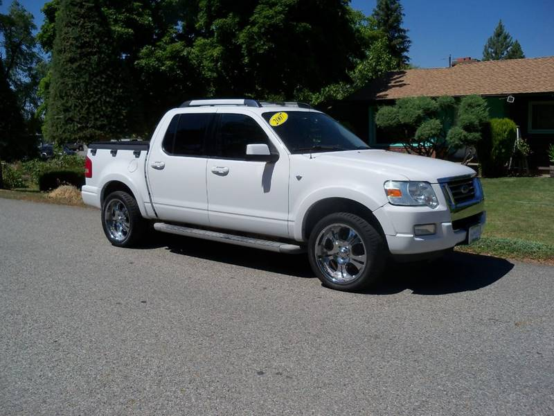 2007 FORD EXPLORER SPORT TRAC LIMITED 4DR CREW CAB 4WD V8 white 2007 ford spo