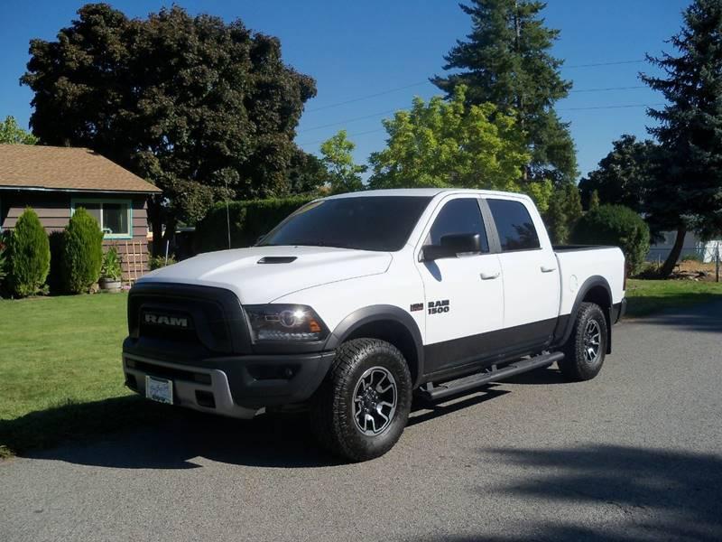 2016 RAM RAM PICKUP 1500 REBEL 4X4 4DR CREW CAB 55 FT S white ram 1500 rebel