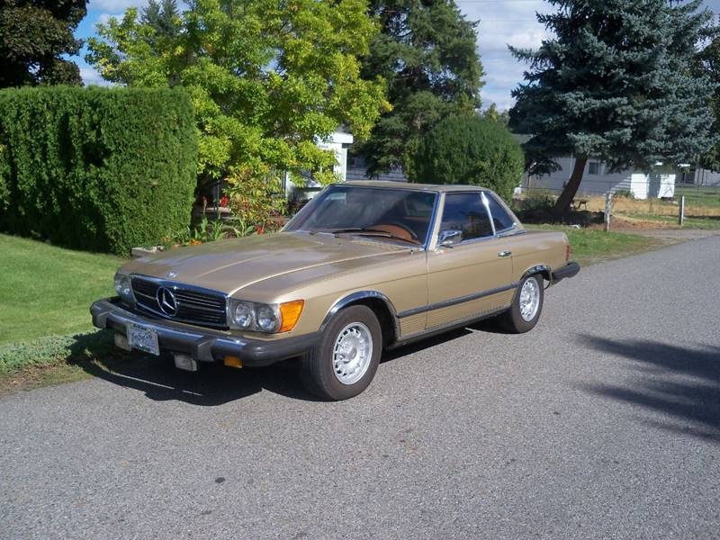 1974 MERCEDES-BENZ 450 SL ROADSTER HARD TOP CONVERTIBLE champagne shes a cla