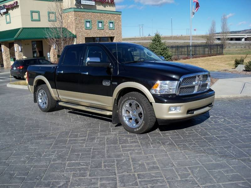 2011 RAM RAM PICKUP 1500 LARAMIE LONGHORN 4X4 4DR CREW CA blackgold 2011 ram