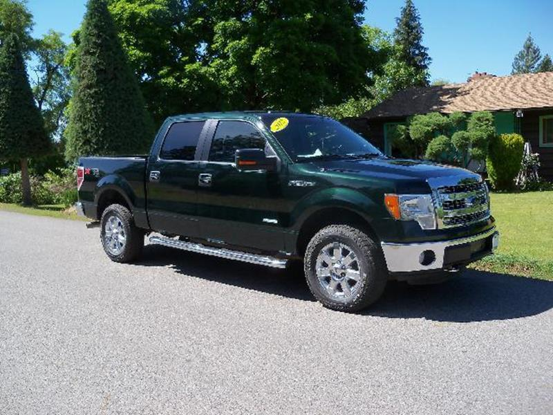 2013 FORD F-150 XLT 4X4 4DR SUPERCREW STYLESIDE dark green xltxtr  supercre