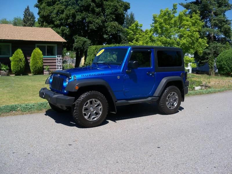 2014 JEEP WRANGLER RUBICON 4X4 2DR SUV blue low millage 2014 jeep wrangler rubicon automatic 36