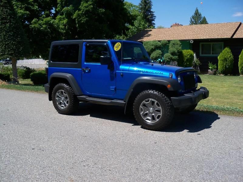 2014 JEEP WRANGLER RUBICON 4X4 2DR SUV blue 2014 jeep wrangler rubicon 36l v6 at4x4 heated l