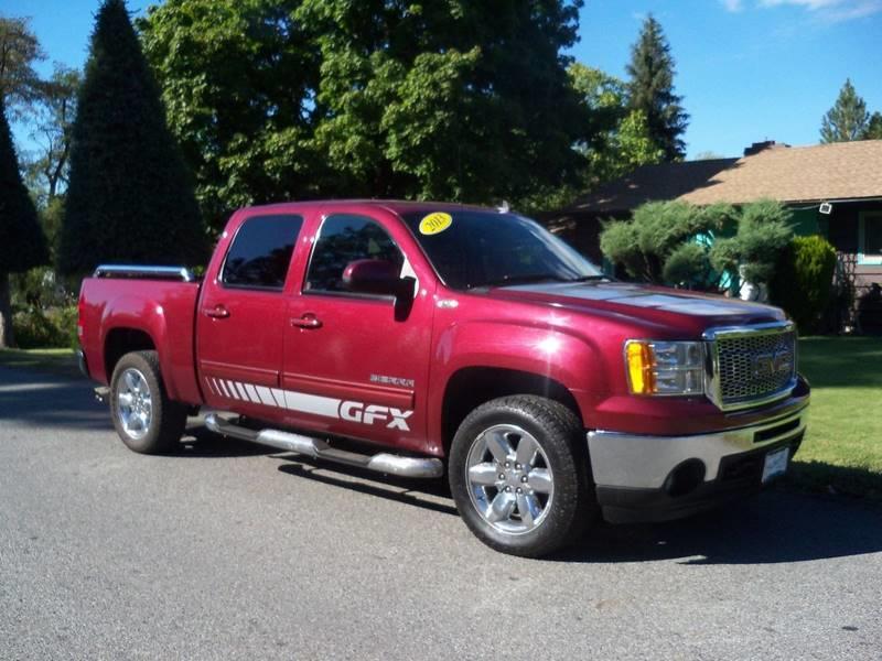 2013 GMC SIERRA 1500 SLT 4X4 4DR CREW CAB 58 FT SB burgundy sltgfx conversion package  53l vo