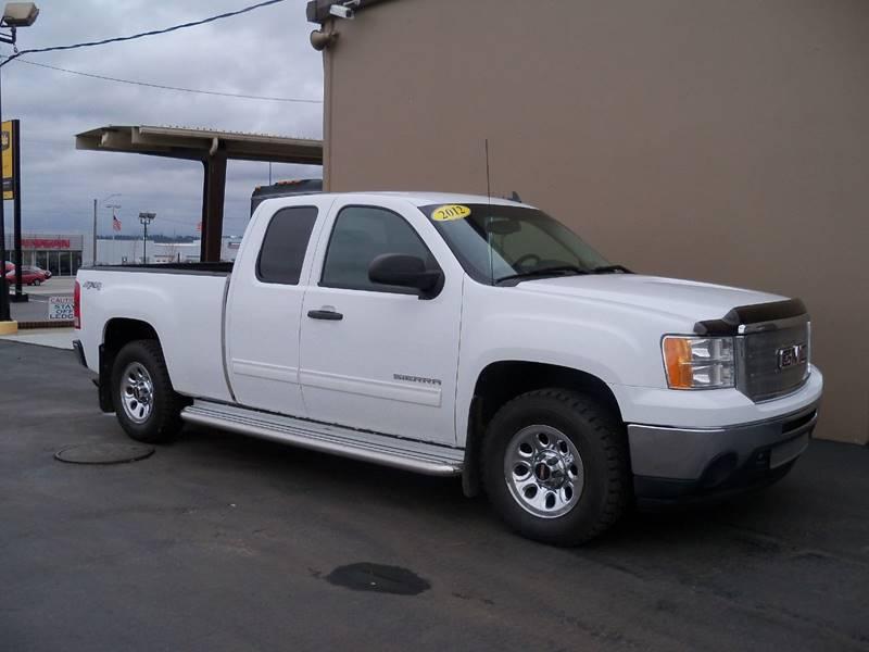 2012 GMC SIERRA 1500 SLE 4X4 4DR EXTENDED CAB 65 FT white sle 53l vortec flex fuel-e85 elect