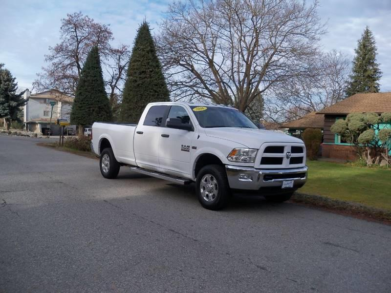 2016 RAM RAM PICKUP 2500 OUTDOORSMAN 4X4 4DR CREW CAB 8 F white outdoorsman ra
