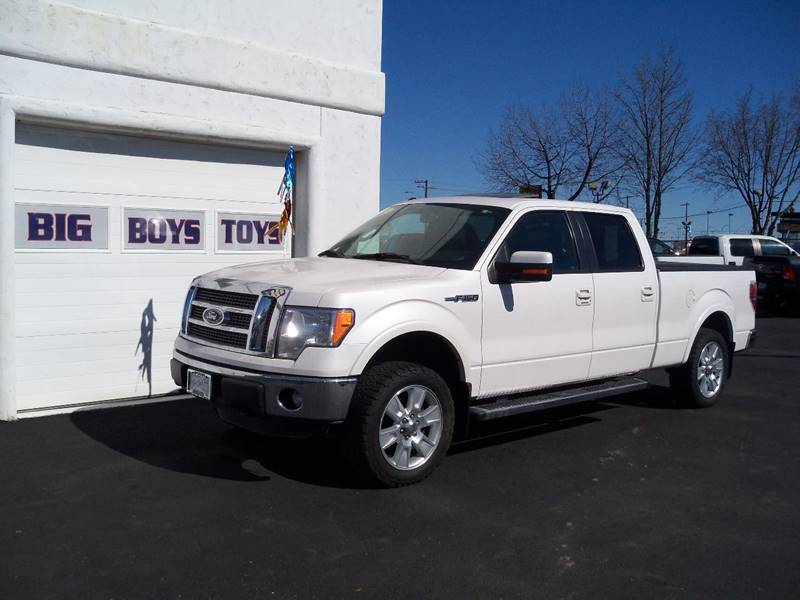 2011 FORD F-150 LARIAT 4X4 4DR SUPERCREW STYLESI diamond white lariat 50l v8 navigation  moon