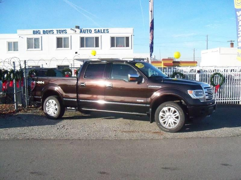 2014 FORD F-150 PLATINUM 4X4 4DR SUPERCREW STYLE kodiak brown platinum 35 l