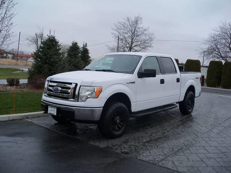 2009 FORD F-150 XLT 4X4 4DR SUPERCREW STYLESIDE white local trade in 2009 ford f150 super crew