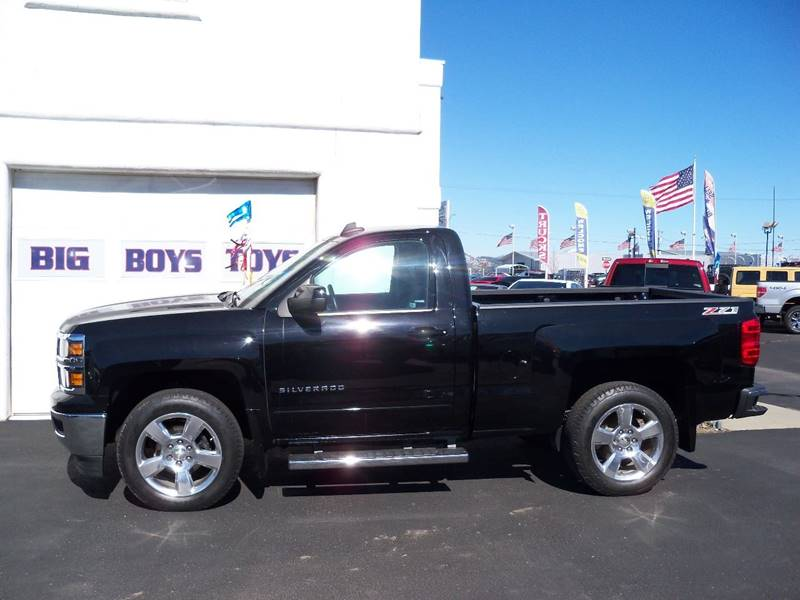 2015 CHEVROLET SILVERADO 1500 LT Z71 4X4 2DR REGULAR CAB 65 F black lt regular cab short box z71