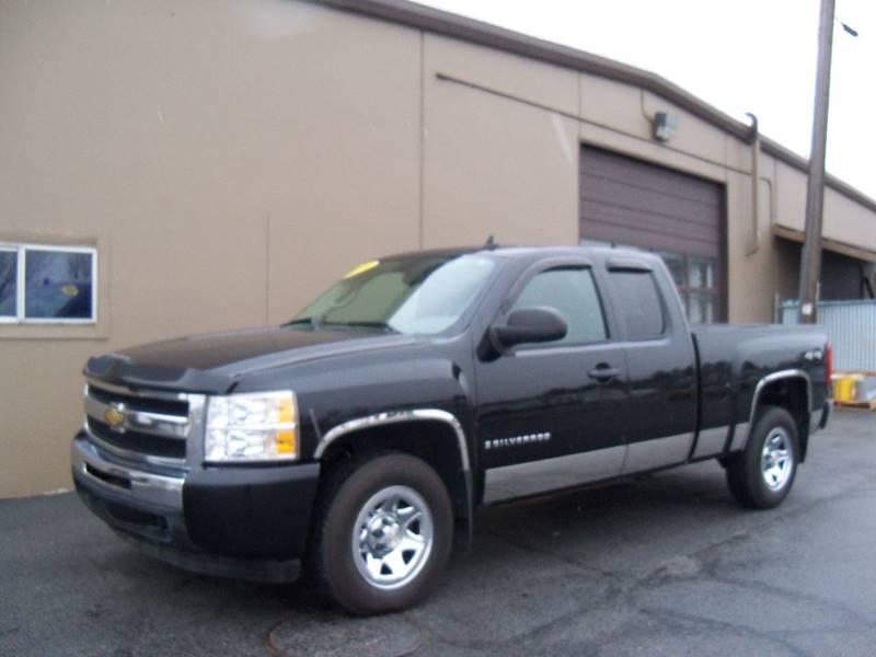 2009 CHEVROLET SILVERADO 1500 WORK TRUCK 4X4 4DR EXTENDED CAB black 2009 chevrolet silverado 1500