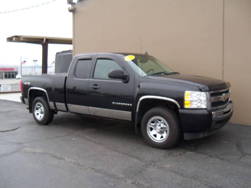 2009 CHEVROLET SILVERADO 1500 WORK TRUCK 4X4 4DR EXTENDED CAB black 2009 chev