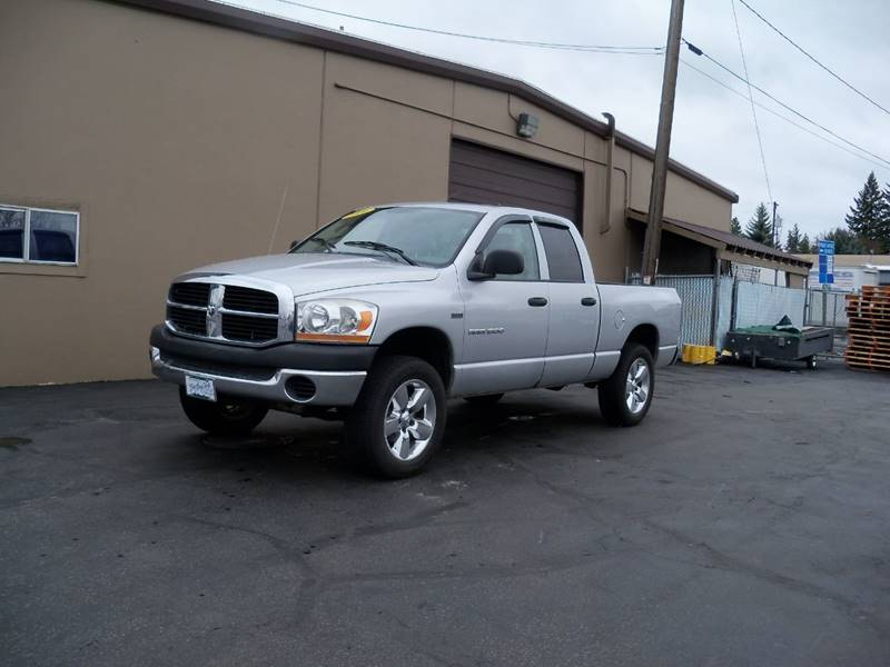 2006 DODGE RAM PICKUP 1500 SLT 4DR QUAD CAB 4WD SB silver more pictures coming soon 2006 ram 1500