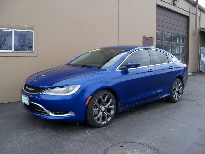 2015 CHRYSLER 200 C AWD 4DR SEDAN blue 200 c awd local 1- owner wnavigation  back-up camera