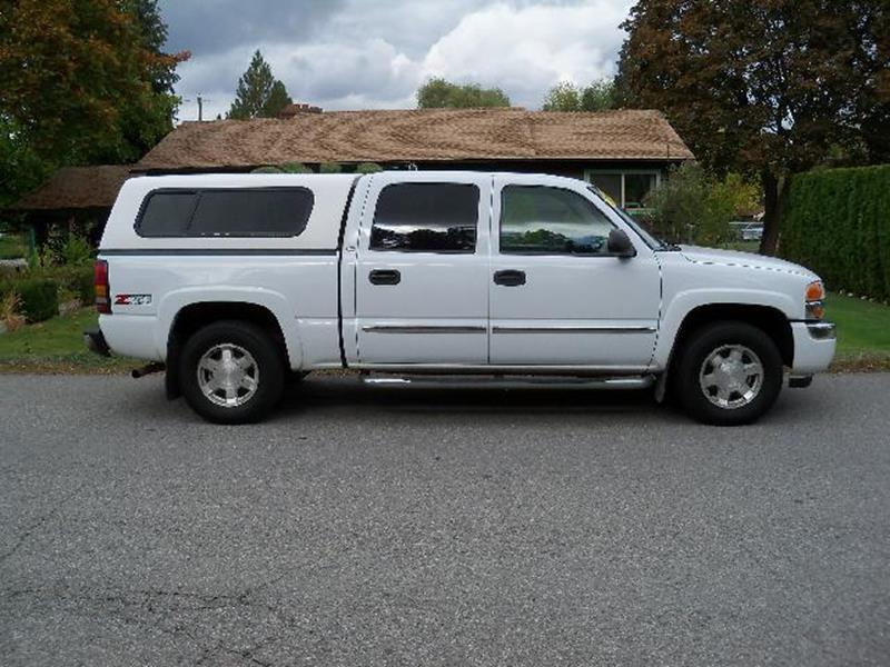 2006 GMC SIERRA 1500 SLE2 4DR CREW CAB 4WD 58 FT SB white priced to sell sle  53l vorte