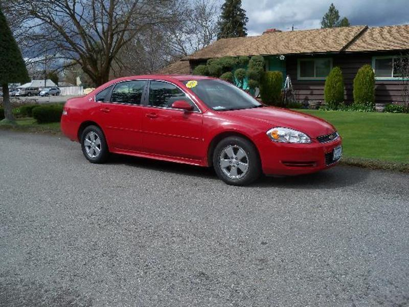 2009 CHEVROLET IMPALA LT 4DR SEDAN red nice clean low miler 35l v6 flex fuel 4 speed automa
