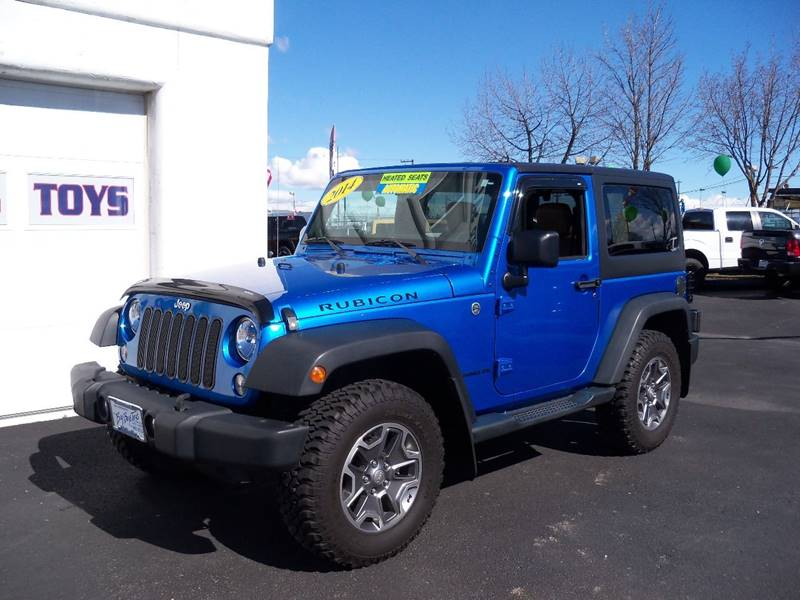 2014 JEEP WRANGLER RUBICON 4X4 2DR SUV blue low mileage 2014 jeep wrangler rubicon automatic 36