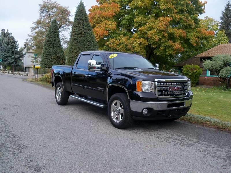2013 GMC SIERRA 2500HD SLT 4X4 4DR CREW CAB SB black slt 60l vortec  at  z71 off road pkg mo