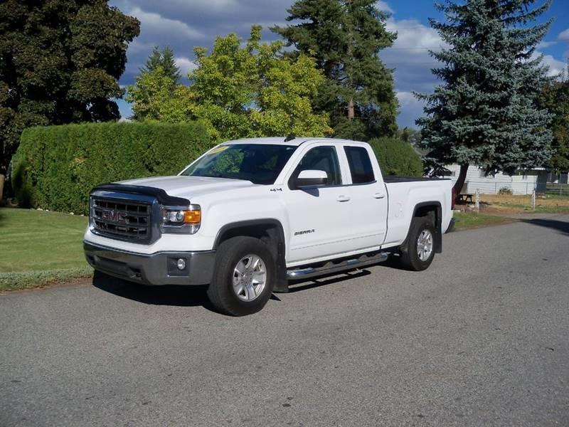 2015 GMC SIERRA 1500 SLE 4X4 4DR DOUBLE CAB 65 FT S white sle 53l  power seat back-up camera