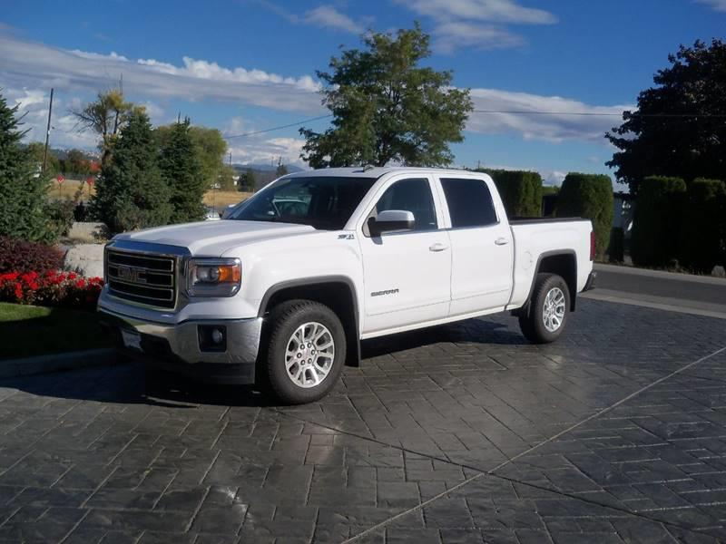 2014 GMC SIERRA 1500 SLE 4X4 4DR CREW CAB 58 FT SB white sle 53l z71 off road pkg low miles