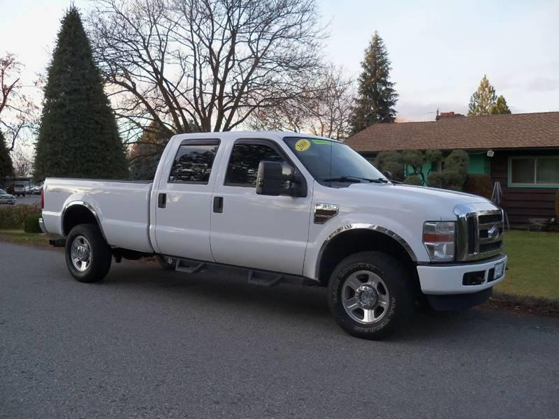 2008 FORD F-350 SUPER DUTY XLT 4DR CREW CAB 4WD LB white xlt 64l powerstroke turbo diesel long