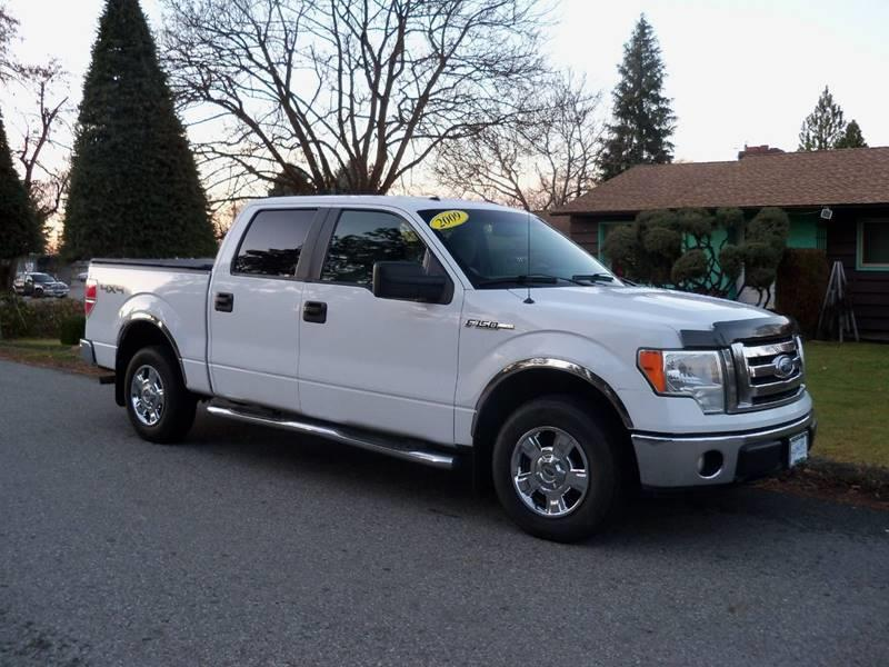 2009 FORD F-150 XLT 4X4 4DR SUPERCREW STYLESIDE white xlt  54l 3v triton electronic shift tran