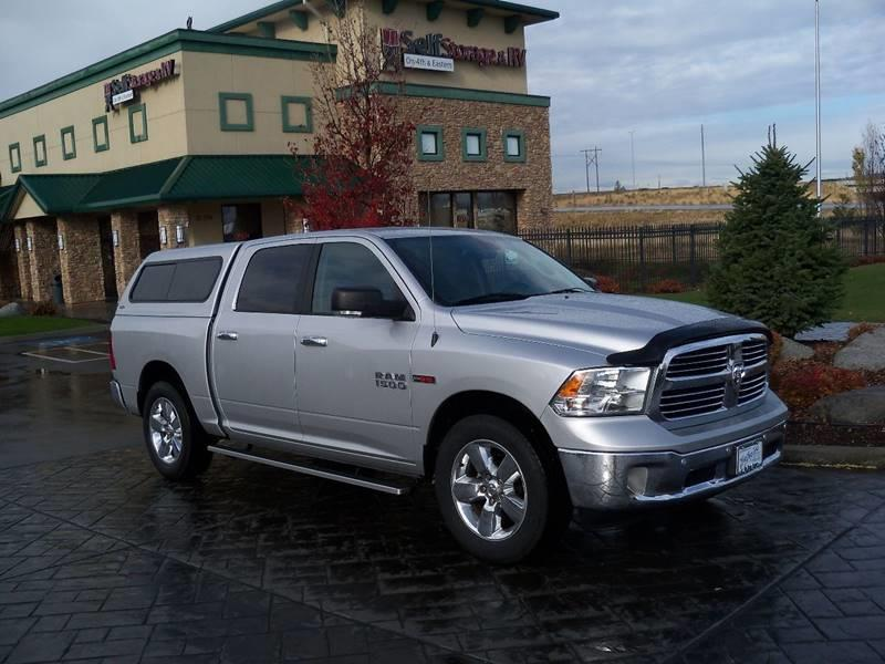 2015 RAM RAM PICKUP 1500 BIG HORN 4X2 4DR CREW CAB 55 FT silver 1-owner us truck ecodiesel  slt