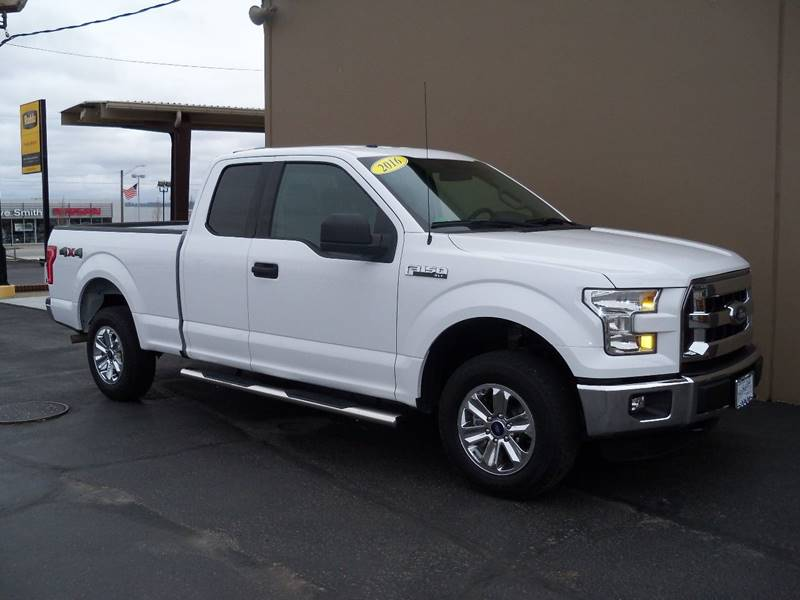 2016 FORD F-150 XLT 4X4 4DR SUPERCAB 65 FT SB oxford white xlt series low miles 50 l v8  ele