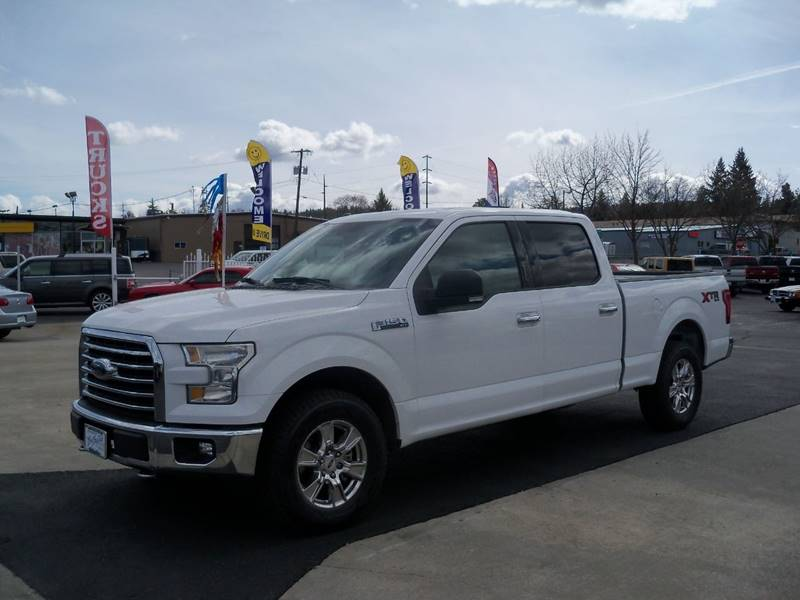 2016 FORD F-150 XLT 4X4 4DR SUPERCREW 65 FT SB oxford white low miles 50 l  v8 power seat 40