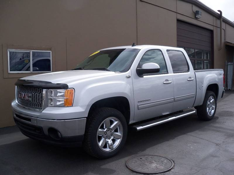 2012 GMC SIERRA 1500 SLT 4X4 4DR CREW CAB 58 FT SB silver additional pictures
