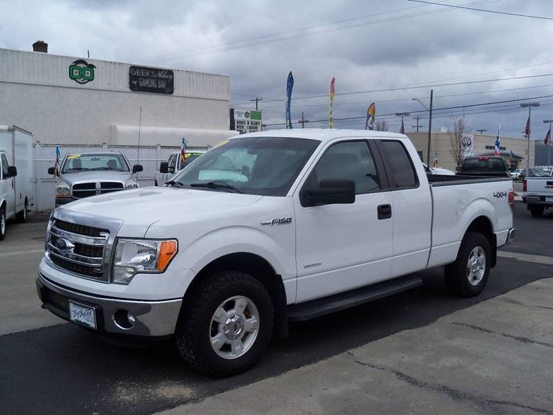 2014 FORD F-150 XLT 4X4 4DR SUPERCAB STYLESIDE 6 white xlt super cab ecoboost 4wd rear park assis