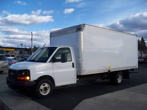 2011 GMC G-3500 16' Cube Van for sale at Big Boys Toys Auto Sales in Spokane Valley WA