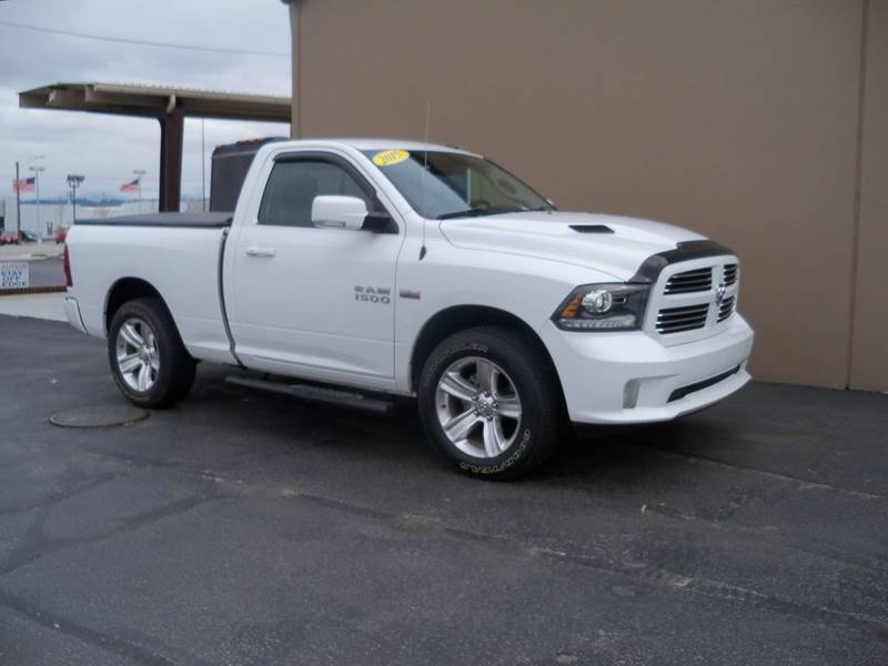 2015 RAM RAM PICKUP 1500 SPORT 4X4 2DR REGULAR CAB 63 FT bright white additional pictures coming