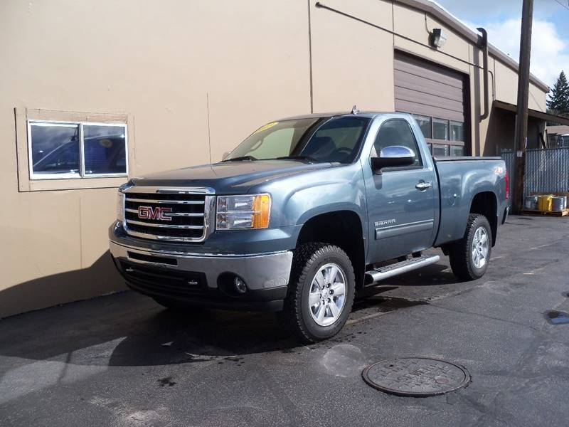 2013 GMC SIERRA 1500 SLE 4X4 2DR REGULAR CAB 65 FT stealth gray metallic lifted sierra 1500 4x4