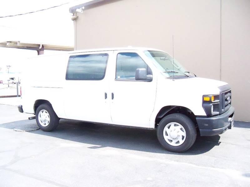 2012 FORD E-SERIES CARGO E 150 3DR CARGO VAN white 1-owner lease return on lpg propane at ac