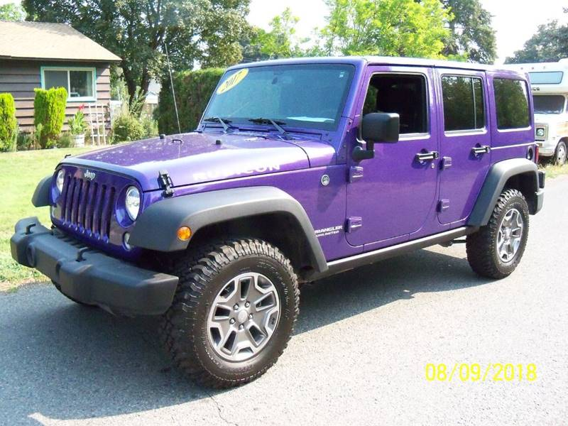 2017 JEEP WRANGLER UNLIMITED RUBICON 4X4 4DR SUV plum crazy plum crazy purple with black heated cl