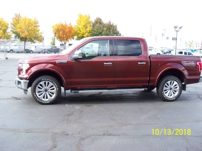 2015 FORD F-150 LARIAT 4X4 4DR SUPERCREW 55 FT bronze fire this low mileage lariat is loaded pa