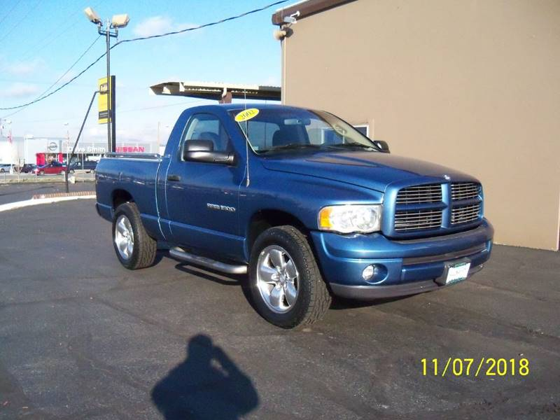 2002 DODGE RAM PICKUP 1500 SLT PLUS 2DR REGULAR CAB 4WD SB blue this short wide box slt sport 4x4