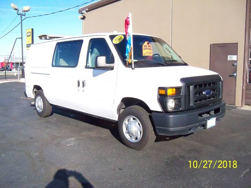 2012 FORD E-SERIES CARGO E 150 3DR CARGO VAN white 54l v8 lpg 10000 roush propane conversion