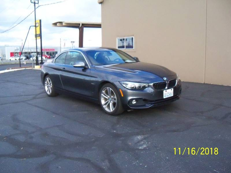 2018 BMW 4 SERIES 430I 2DR CONVERTIBLE glacier silver metalic premium package -inc heated front