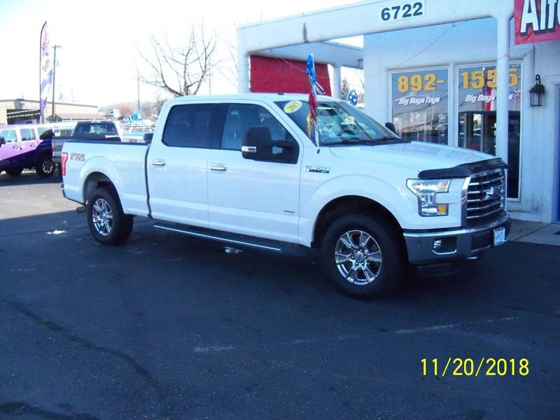 2015 FORD F-150 XLT 4X4 4DR SUPERCREW 65 FT SB white fx4 package remote starter dual power he