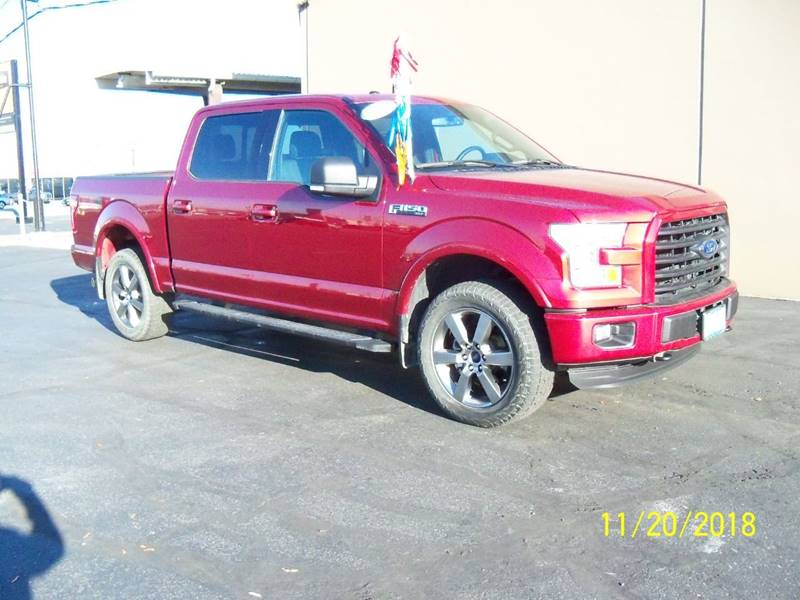 2016 FORD F-150 XLT 4X4 4DR SUPERCREW 55 FT SB ruby red fx4 package dual power seats wheated bu